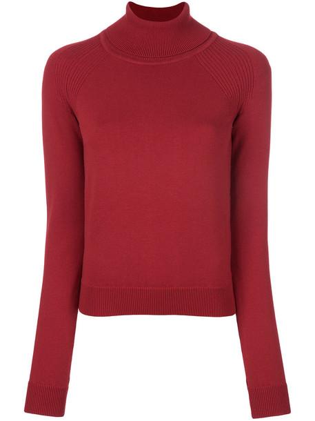 Dsquared2 jumper turtleneck women wool red sweater