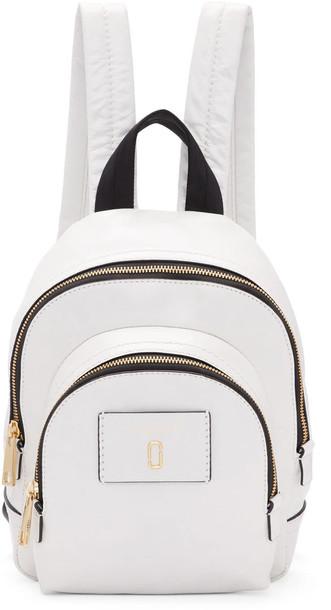 Marc Jacobs mini backpack white bag