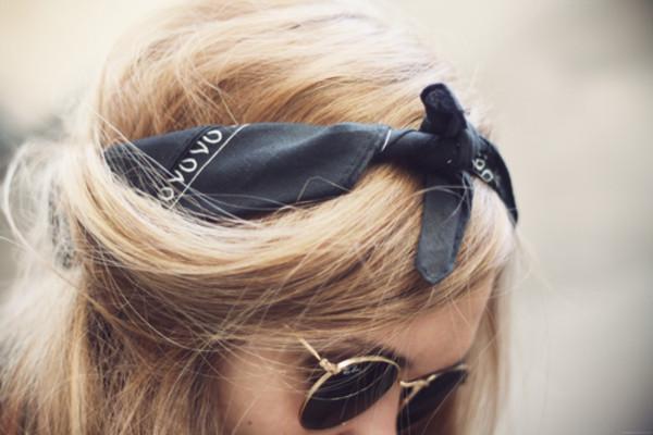 scarf black hair accessory hair and makeup bandana please!! california girl beauty hair adornments