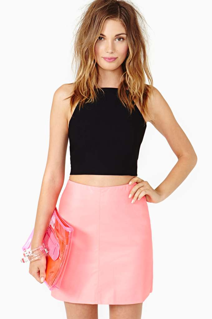 Nasty Gal Evangelista Crop Tank in  Clothes Tops Cropped at Nasty Gal