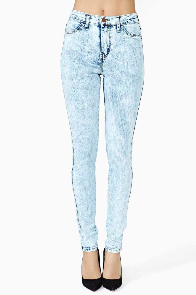 Bleacher Skinny Jeans  in  Clothes Bottoms Denim Skinny at Nasty Gal