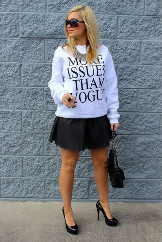 sweater tumblr vogue sweatshirt oversized sweater crewneck crewneck sweater tumblr shirt tumblr clothes meangirls bitch top freshtops t-shirt pullover