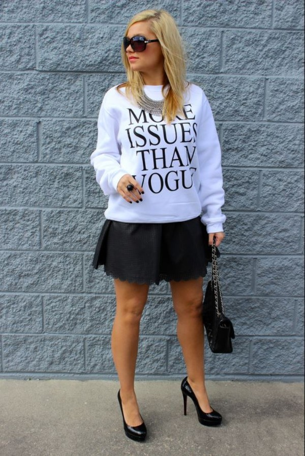 sweater tumblr vogue sweatshirt oversized sweater sweater crewneck crewneck sweater tumblr shirt tumblr clothes meangirls bitch top freshtops t-shirt pullover