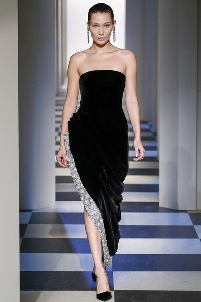 dress, oscar de la renta, runway, strapless dress, strapless, gown ...