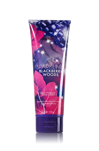 Amazon.com : Bath and Body Works Sparkling Blackberry Woods Triple Moisture Body Cream 8 Oz : Body Scrubs : Beauty
