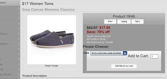 shoes grey flats toms