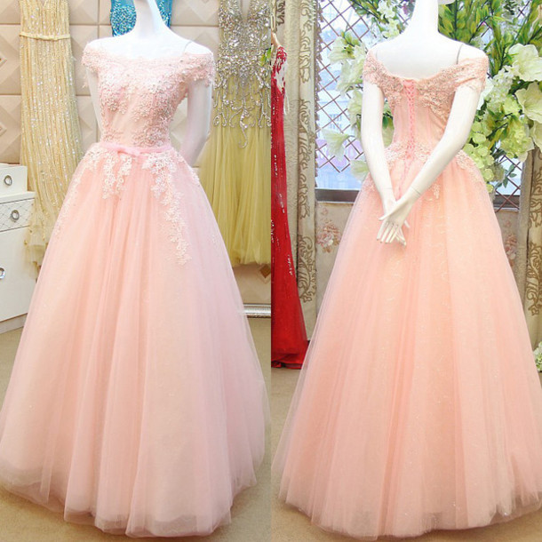 Dress: prom, prom dress, blush pink, gown, pink, pink dress ...