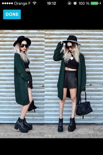 cardigan green knitted cardigan lookbook
