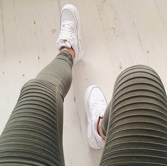 leggings jeans military style green khaki olive jeggings