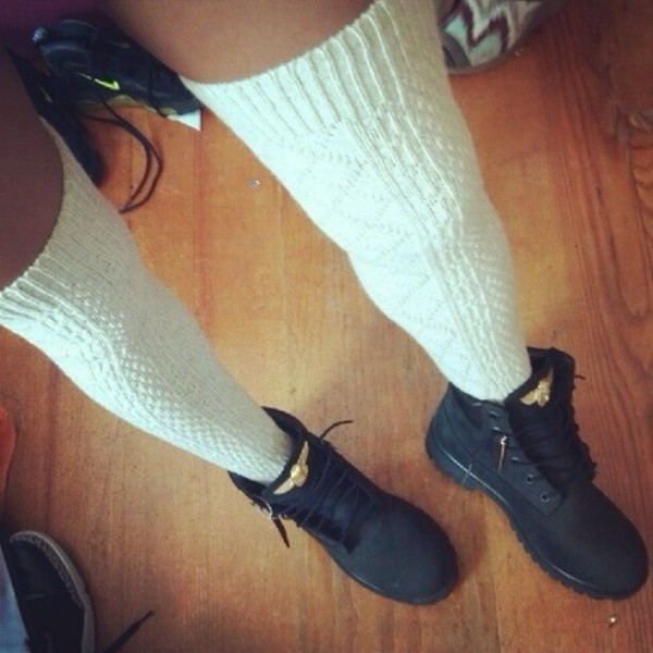 shoes black gold boots knee high socks black timberlands underwear black shoes winter boots timberlands
