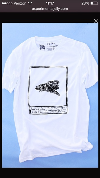 shirt tomorrows tulips kale white t-shirt pale art hoe tumblr soft grunge cool burger records