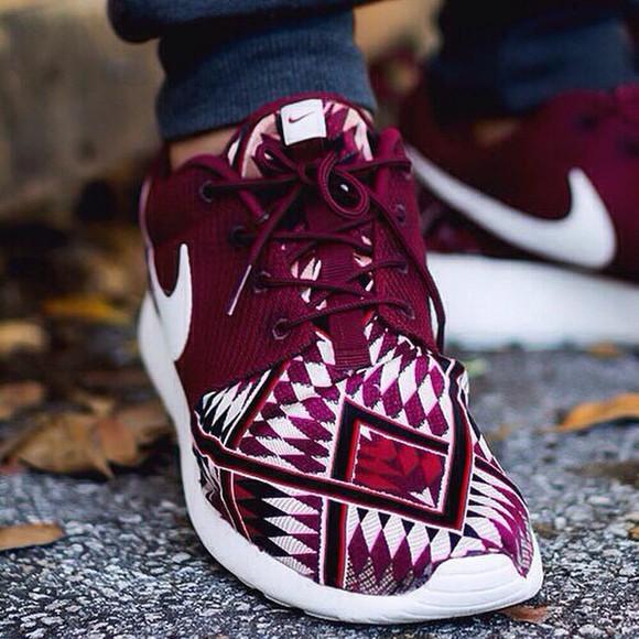 sneakers tribal pattern tribal print shoes roshe runs