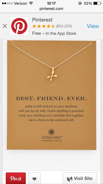 jewels best friends necklace infinity necklace gold arrows