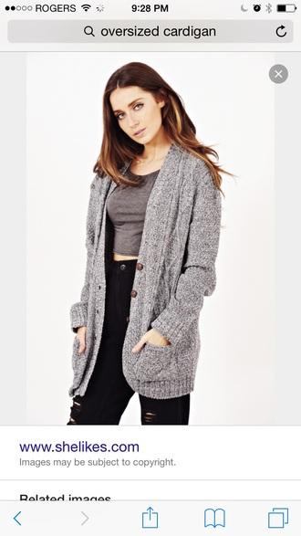 cardigan wool black