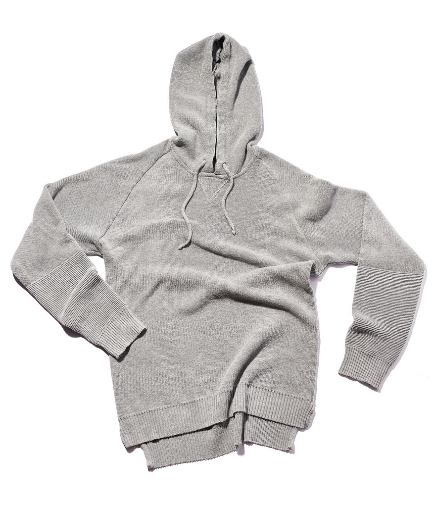 MIX COTTON PULLOVER HOODIE