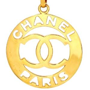 Authentic Vintage Chanel Necklace Chain CC Logo Pendant Coco NE633 | eBay