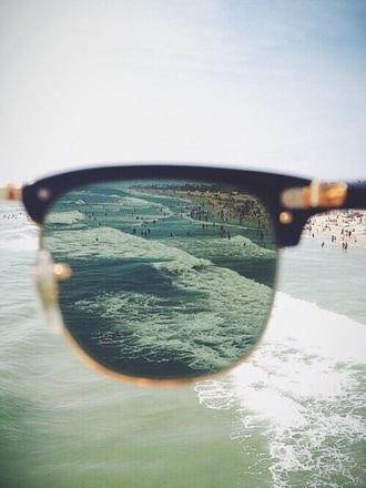 sunglasses vintage photography retro ocean black gold