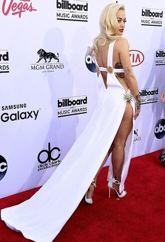 dress gown billboard music awards cut-out rita ora