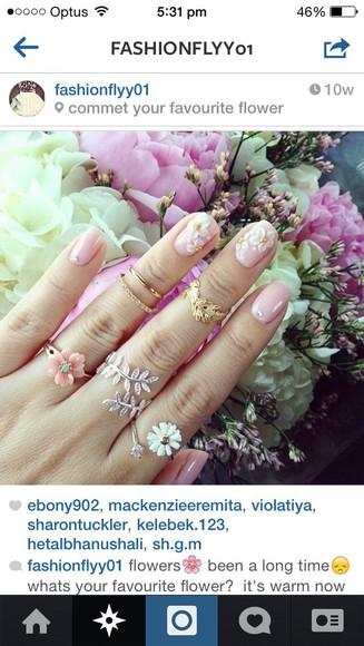 bows girly jewels cute rings cute summer beautiful