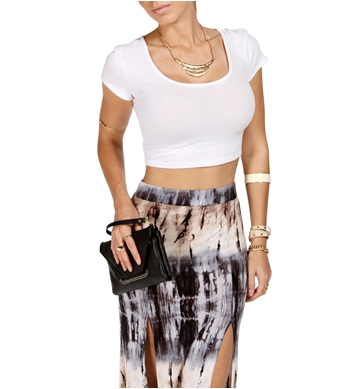 30943d58534 White Cap Sleeve Fitted Crop Tee