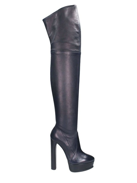 CASADEI boot over the knee black blue shoes