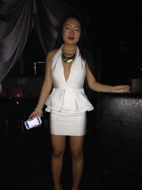 dress white party dress fancy dress evening dress white dress