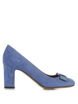 suede pumps bow pumps suede light blue light blue shoes