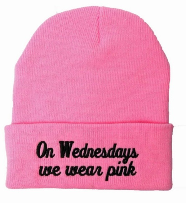 hat mean girls black beanie