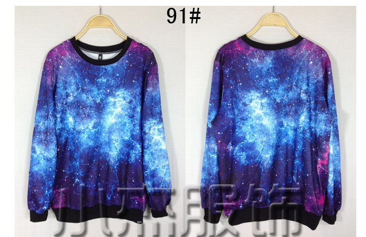 Free Shipping 2013 New Arrival Good Quality Mysterious light blue Sky Galaxy Star Thin Fashion Woman Shirt / Fashion Blouse-in Blouses & Shirts from Apparel & Accessories on Aliexpress.com