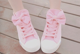shoes pink bow tumblr paste