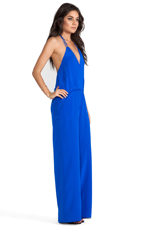 41b932b019e Karina Grimaldi Gardenia Solid Jumpsuit in Electric Blue from ...