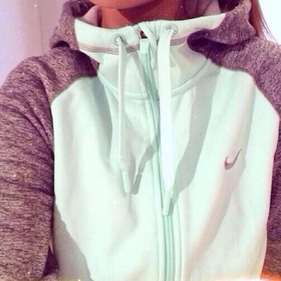 baby blue nike jacket grey