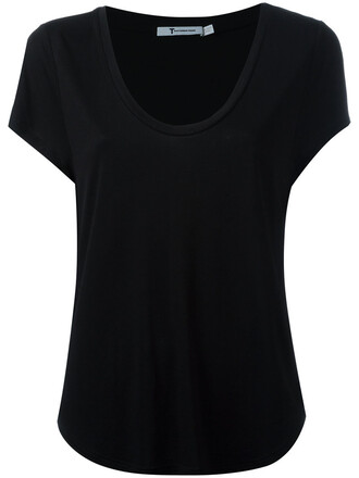 t-shirt shirt women black top