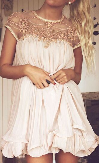 dress cute style flow sparke straps