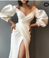 dress,fancy,white dress,cleavage