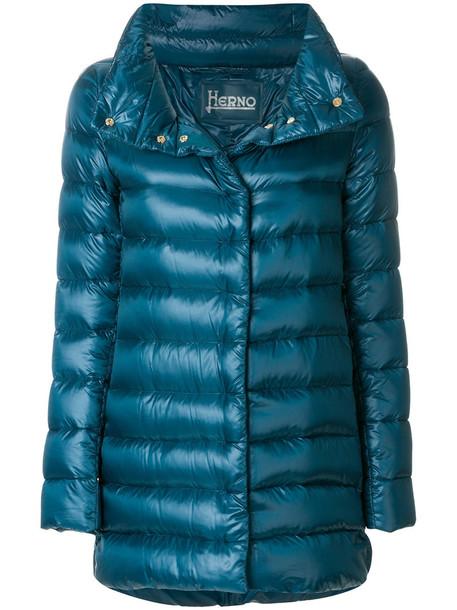 coat women cotton blue