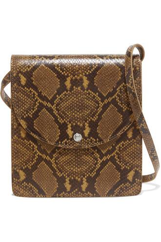 snake bag shoulder bag leather brown