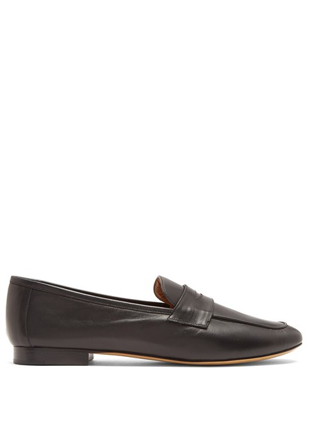 classic loafers leather black shoes