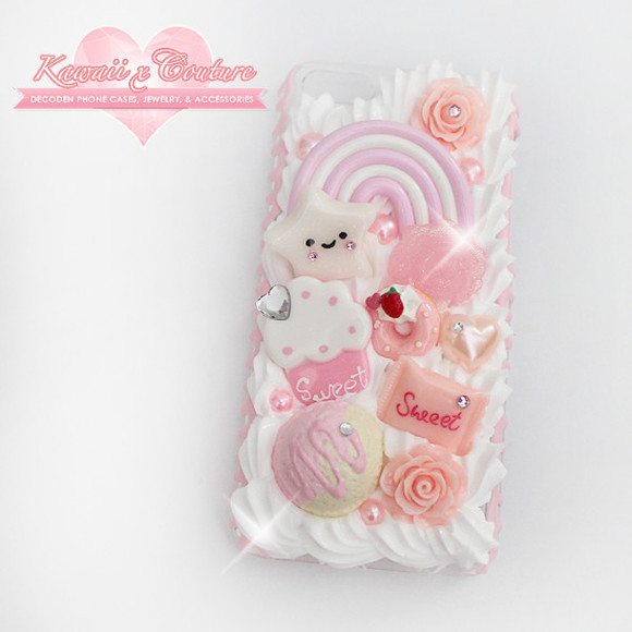 phone sweet phone case case whipped cream kawaii case for iphone 4/4s/5