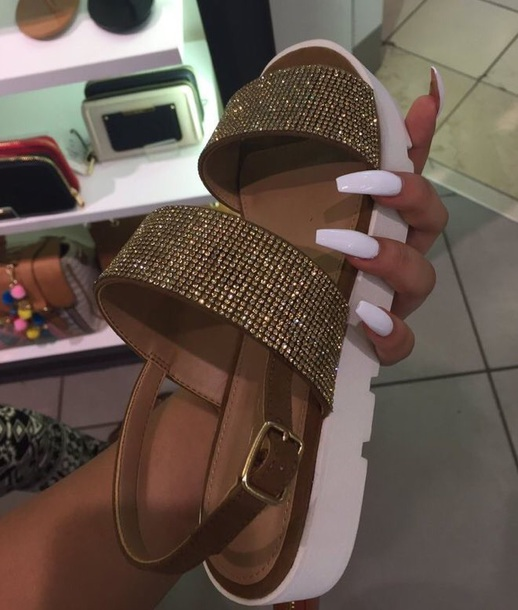 903a03ef29a6 shoes strap sandals gold white cute sandals summer spring shiny