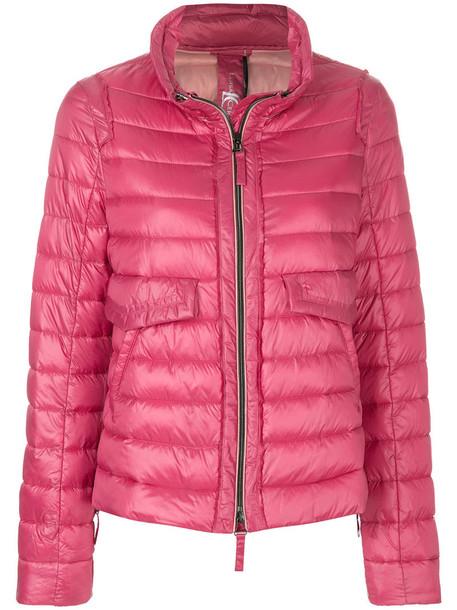 jacket puffer jacket zip women purple pink