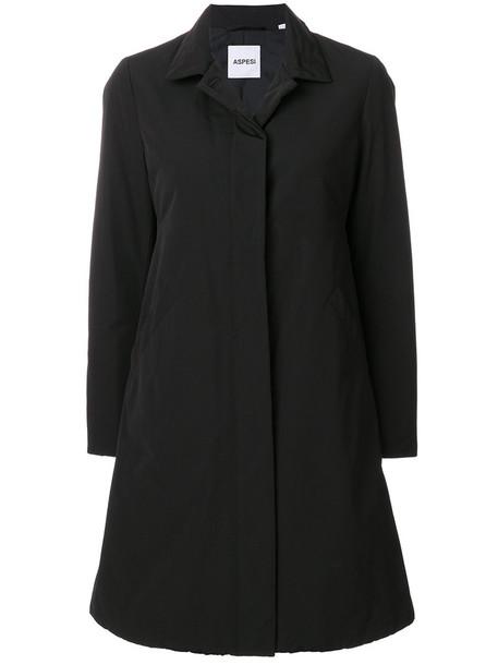 ASPESI coat women cotton black