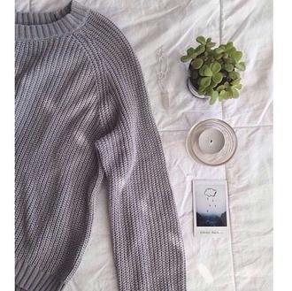 sweater waffle knit grey sweater pale pale grunge
