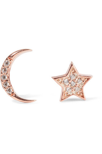 rose gold rose moon earrings gold jewels