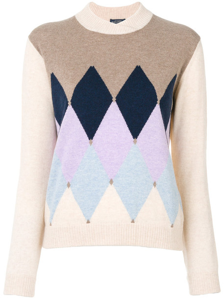 Ballantyne - triangular knit sweater - women - Cashmere - 40, Nude/Neutrals, Cashmere