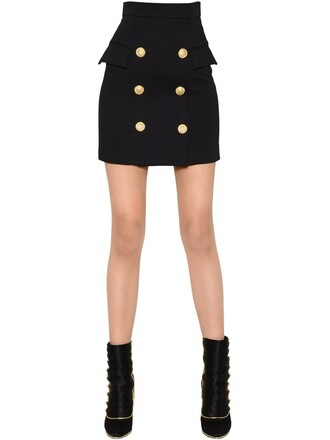skirt mini skirt mini high waisted high black