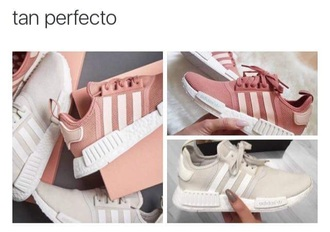 shoes adidas adidas shoes adidas originals pink tumblr pink sneakers causal shoes nmd mn white adidas nmd r1 pink adidas shoe beige stripes low top sneakers sneakers power 14 adidas nmd salmon my fav