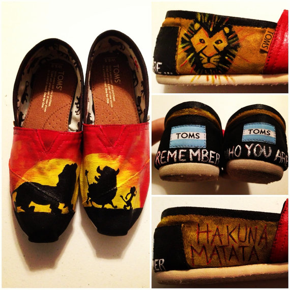 Custom handpainted lion king toms shoes shoes not by jessicalexis