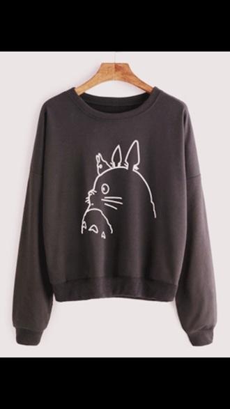 sweater anime totoro sweatshirt