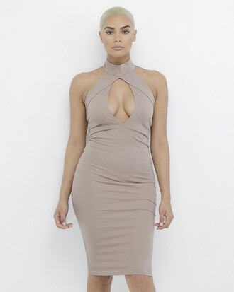 dress cut-out bodycon bodycon dress mocha mocha dress cut-out dress